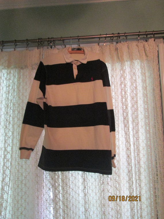 Vintage 80s Rugby Shirt Polo Ralph Lauren Striped