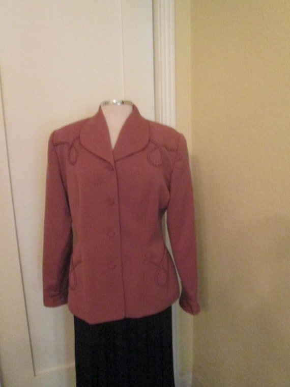 Vintage Zelda Salmon Jacket Size 12 80s Large Women Suit Etsy