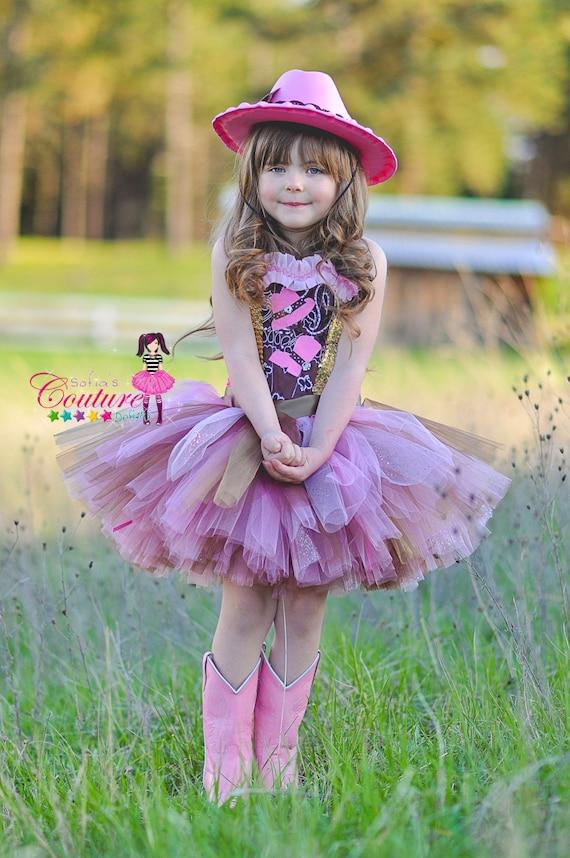 Vestido diva fabulosa de vaquera en rosa y marrón