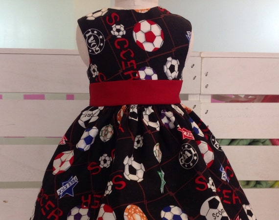 18 or 14 Inch American Handmade Soccer Dress for any 18 Inch Doll