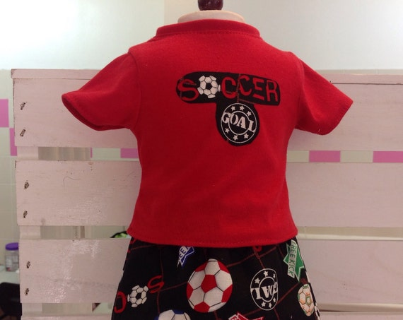 18 Inch Doll Clothes Soccer Two Piece Outfit American Made 18 Inch Doll Clothes