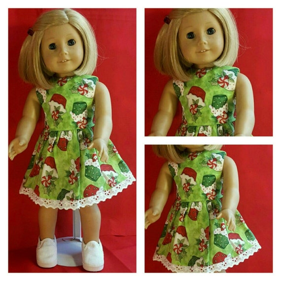 Cupcakes Christmas Dress American Handmade for you 18 Inch Doll