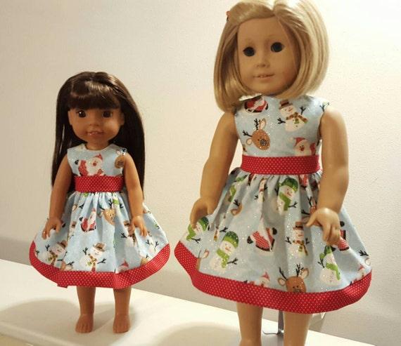 American Handmade 18 Inch or 14 Inch Doll Dress