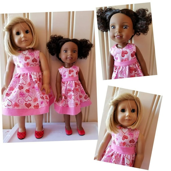 Hearts Dress for  Wisher Wisher  or American Girl Doll