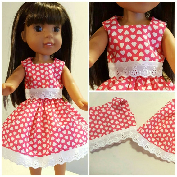 14 Inch Doll Top and Skirt with Lace