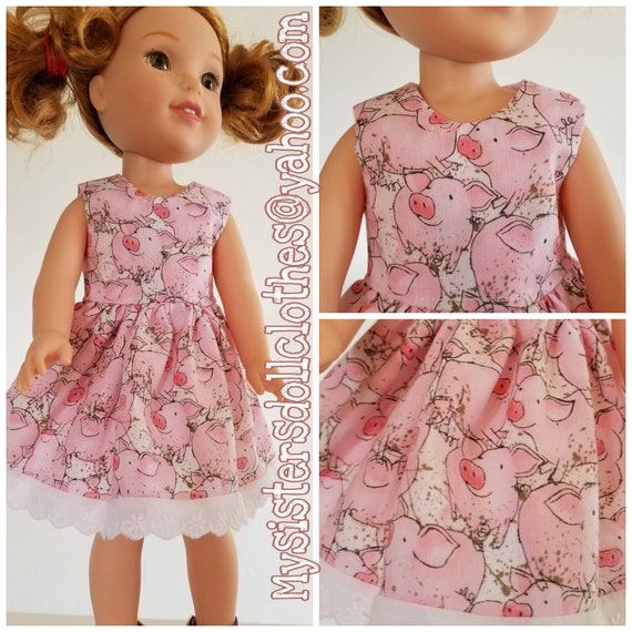 Piggy Dress  for 14.5 Inch Doll Wellie Wisher