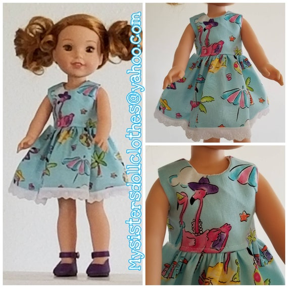 Flamingo Dress  for 14.5 Inch Doll Wellie Wisher