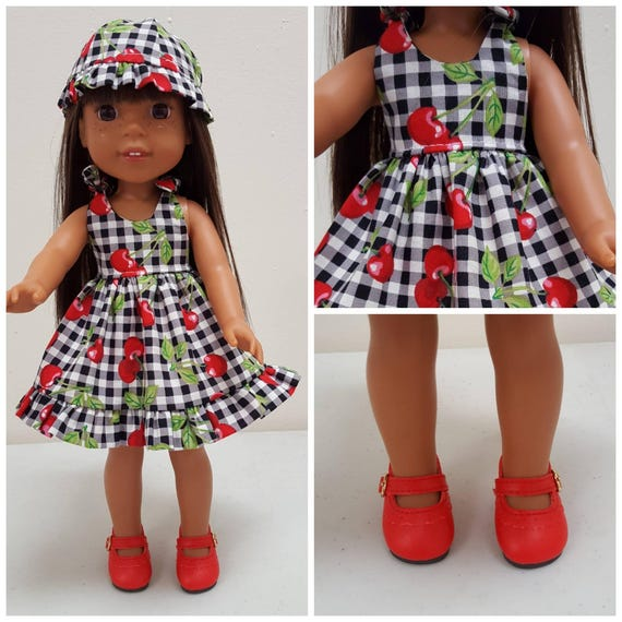 Dress and  Hat for Wellie Wisher