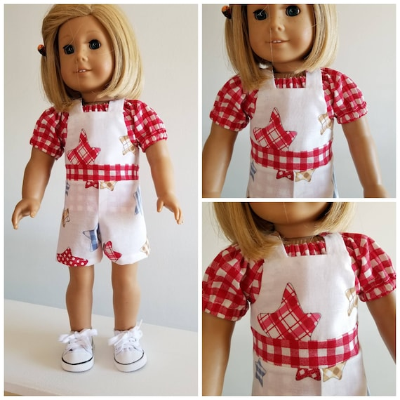 Overalls and Blouse American Made 18 Inch Doll Clothes