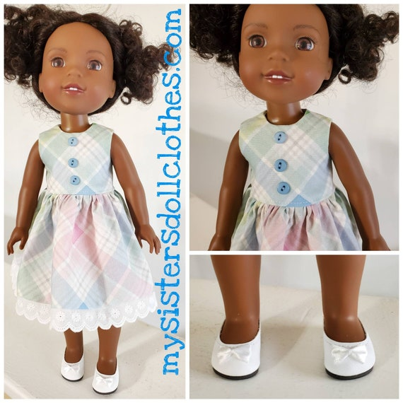 Pastel Colors Dress  for 14.5 Inch Doll Wellie Wisher