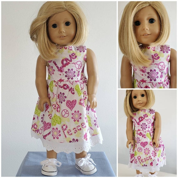 Love and Peace Dress for the American Doll