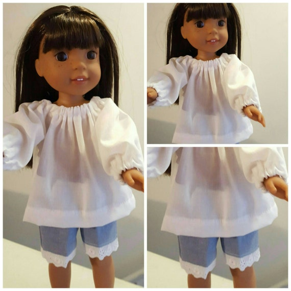 14 Inch Doll Shorts and Peasant Top Wellie Wisher