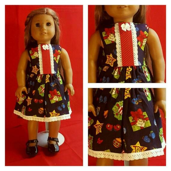 Christmas Presents Dress American Handmade for 18 Inch Dolls