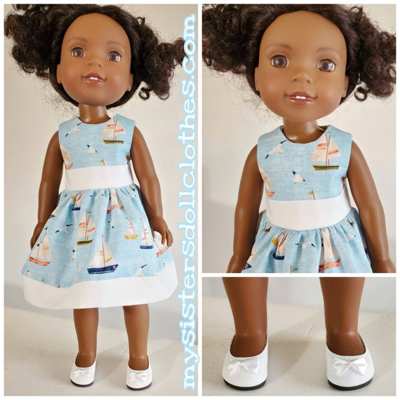 Sail Boat Dress  for 14.5 Inch Doll Wellie Wisher