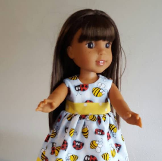 Willie Wisher Doll Dress Flying Bees