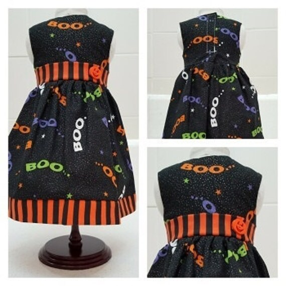 Boo Halloween  Dress American Made 18 and 14 Inch Doll Clothes