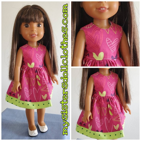 Heart Dress for the 14.5 Inch Doll Wellie Wisher