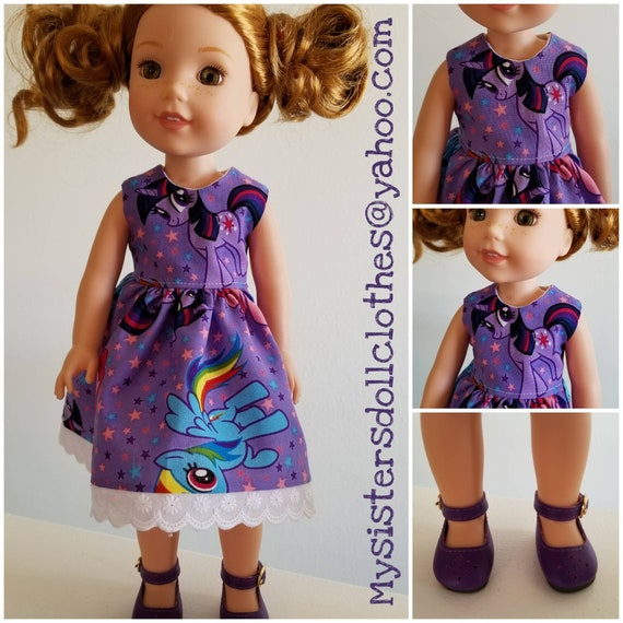My Little Pony Dress and purple Shoes for Wellie Wisher 14 Inch