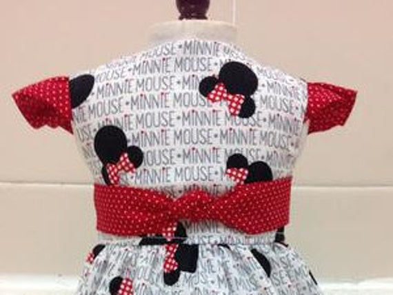 Minnie Mouse Ears Dress American Made 18 Inch Doll Clothes