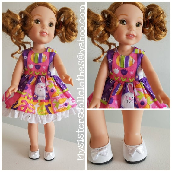 Easter Dress and Shoes for  Wisher Wisher Doll