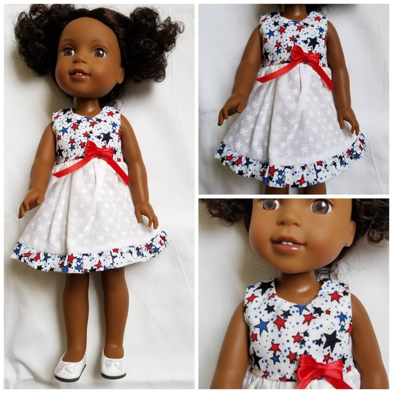 Patriotic Hello Kitty Dress for 14 inch Dolls