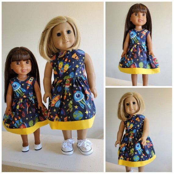 Out of This World Astronaut Dress for Wellie Wisher and American Girl Dolls