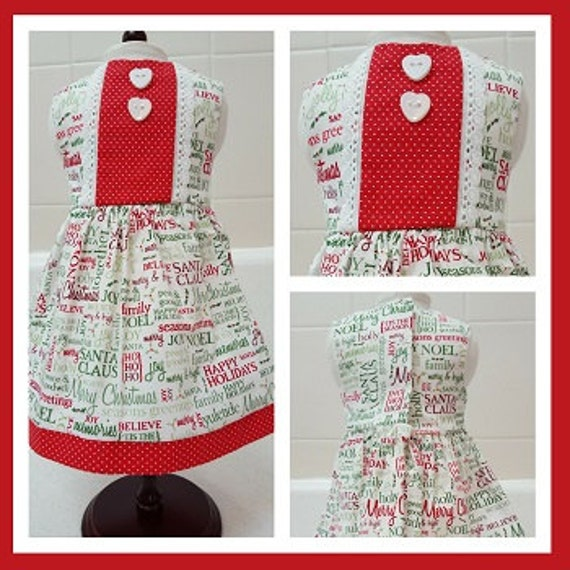 18 Inch American Handmade Merry Christmas Says It All Dress Doll Clothes