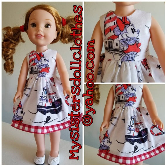 Minnie Mouse  Ship Dress for Wellie Wishers Dolls Disney Cruise