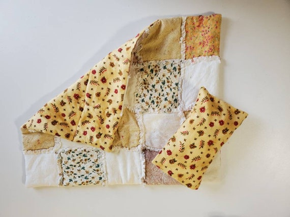 Rag Quilt 18x14 and Pillow