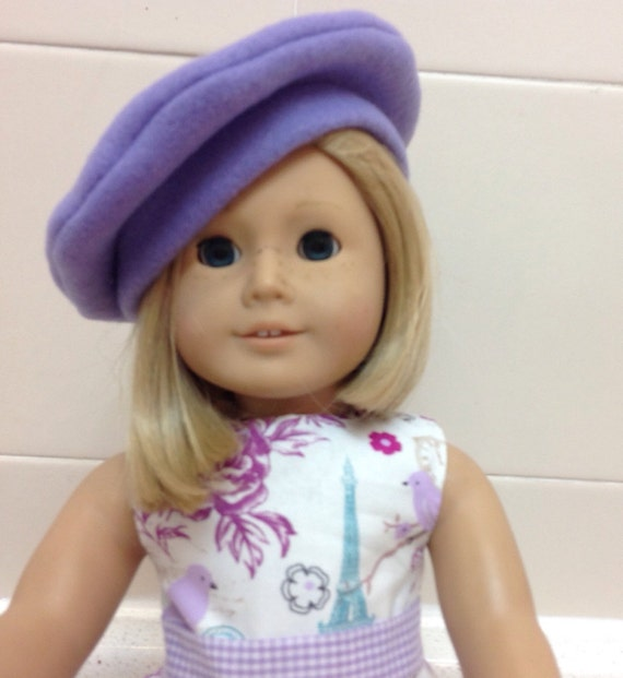 Paris Dress and Baret for Grace American Made 18 Inch Doll Clothes