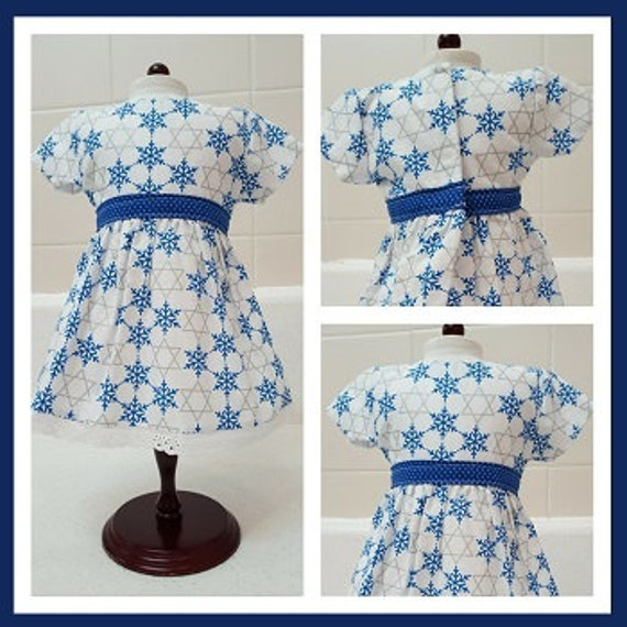 Happy Hanukkah Dress American Made 18 Inch Doll Clothes