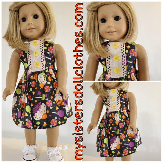 Halloween Candy Dress!Halloween Dress for American girl doll
