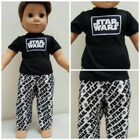 Star Wars PJ'S for Logan. 18 Inch Doll American Handmade