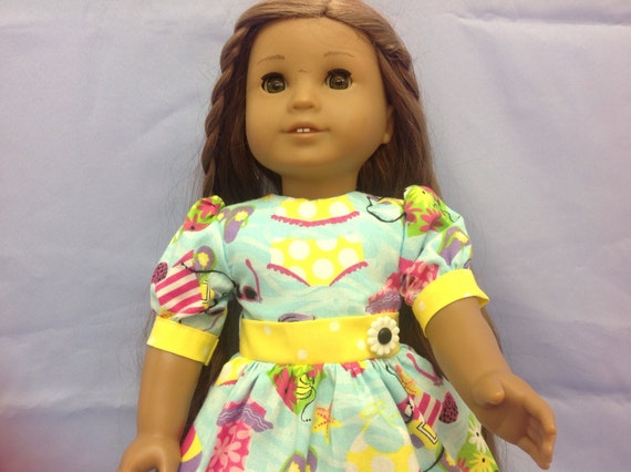 Summer Time is Anytime 18 Inch Doll Dress American Handmade