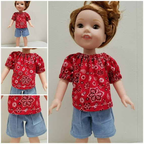 Shorts and Top for Wellie Wisher Doll and Disney Toddler Doll.