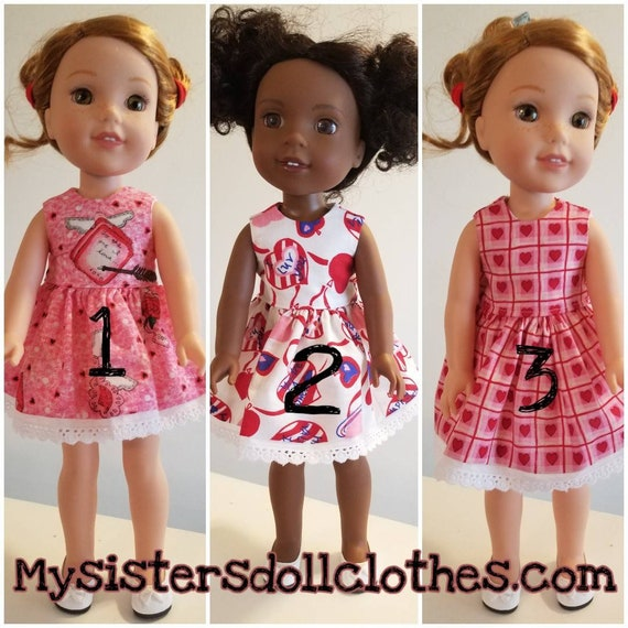 Wellie Wisher Heart Dress  Wellie Wishers Doll Dress 3 to Choose From.