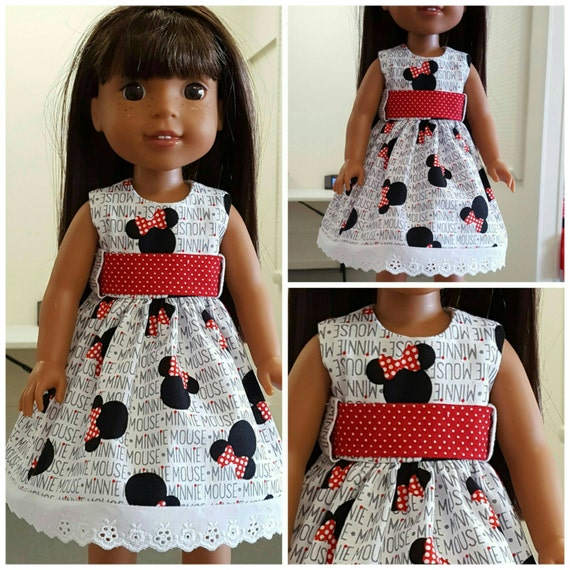 Minnie Mouse Dress for 14.5 Inch Doll and Disney Toddler Doll
