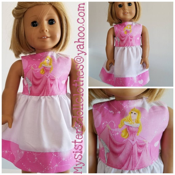 Aurora or Belle Princess Dress 18 Inch American Handmade Doll Clothes