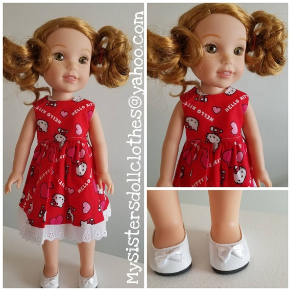 Hello Kitty Dress and Shoes for  Wisher Wisher Doll