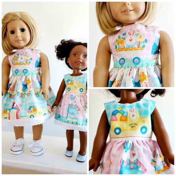 Easter Bunny Dress for your  AG and WW Dolls.