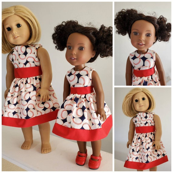 Are You Ready For Some Baseball? Dress for your  AG and WW Dolls.