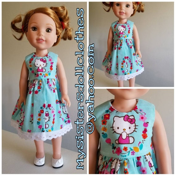 Hello Kitty Dress for Wellie Wishers Dolls