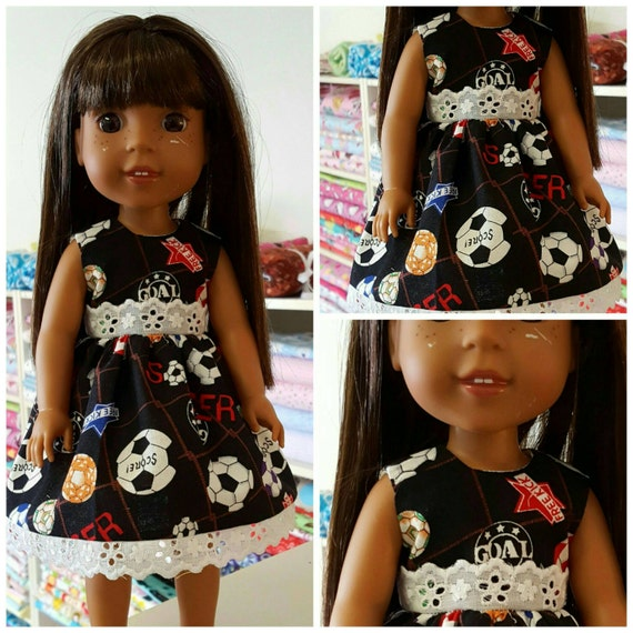 Soccer Dress For the 14 Inch Doll Wish