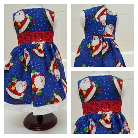 18 and 14 Inch American Handmade Santa Claus Christmas Dress  Doll Clothes