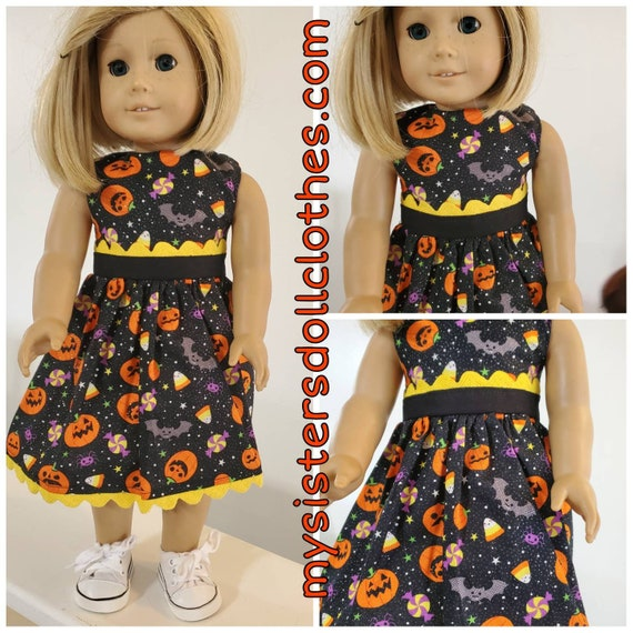 Pumpkin Overload!Halloween Dress for American girl doll