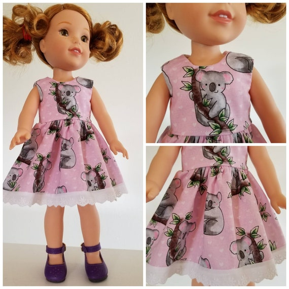 Koala Bear Dress  for 14.5 Inch Doll Wellie Wisher