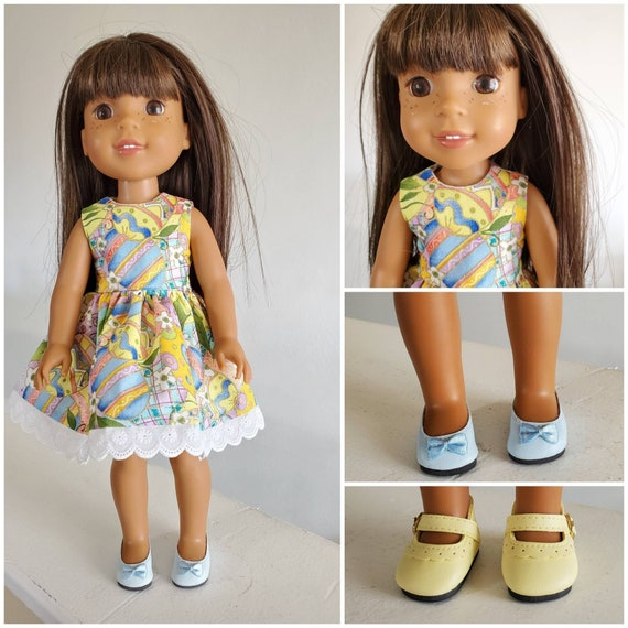 Colorful Easter Egg Dress for the 14.5 Inch Doll Wellie Wisher