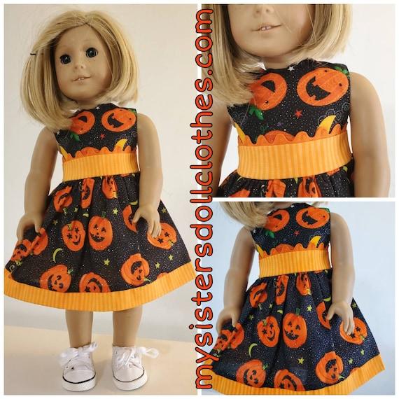 Pumpkin HalloweenDress!Halloween Dress for American girl doll