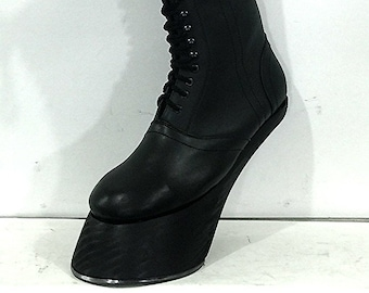 made to order  boots  costume Heelless Hooves made to order can be made  any color to your size and customized with real iron horse shoe