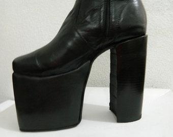 7b86b5f3966 70s men or woman glam style black 5